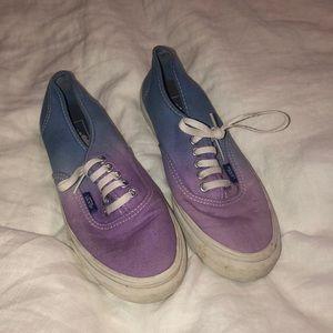 Ombre Purple to Blue Vans